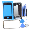 4S Battery Door Cover Case Replacement+Front Glass Lens+Middle Frame Bezel For iPhone 4S Front Back Glass Bezel Frame+Free Tools