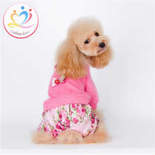 New High quality England European style winter Autumn dogs Apparel Puppy Rompers Dog Clothes with scarf clothing pets Jumpsuit