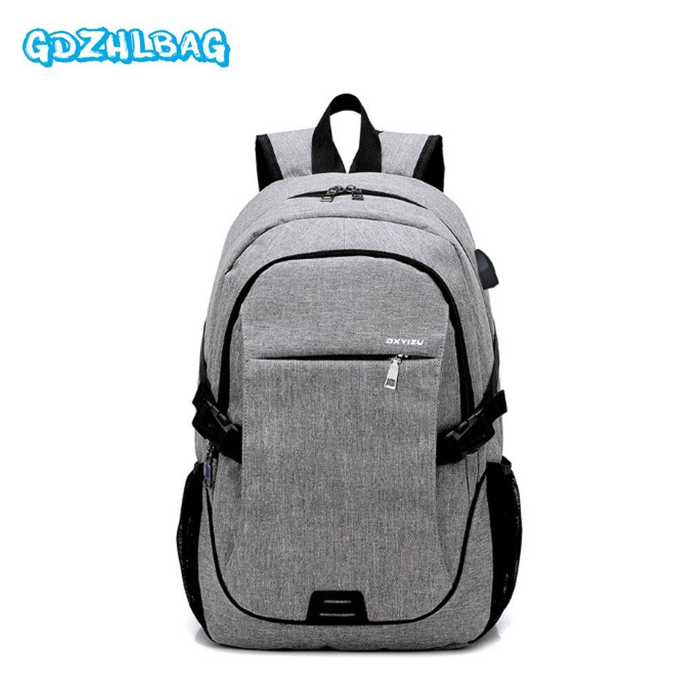 GDZHLBAG High Quality Anti-theft Waterproof Oxford Backpacks USB charger waterproof zipper backpack Women travel back pack B197