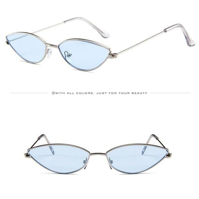 42e47c7819 Fashion cat Eye SunglassesMens Womens Small Frame Cat Eye Oval Retro  Vintage Sunglasses EyeglassesDriver Night Driving  LHD