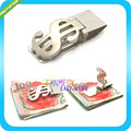 US Dollar Sign Stainless Steel Money Clip Pocket Wallet