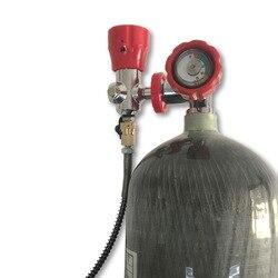 AC368101 6.8L 4500psi z włókna węglowego/Paintball/PCP cylindra/zbiornik z manometrem/zawór i stacji napełniania dla cel polowania akcesoria