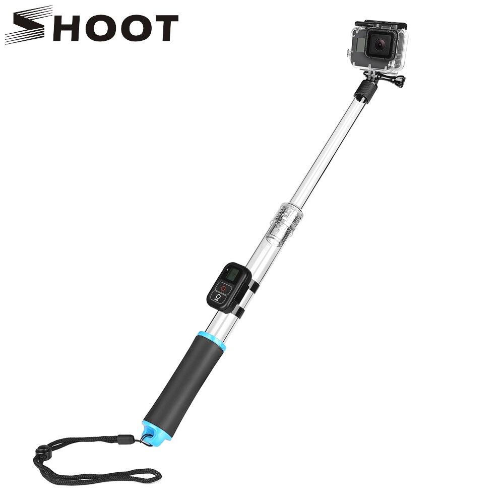 SHOOT Transparent Action Camera Waterproof Monopod for GoPro Hero 6 5 4 3 Black Silver Session Yi 4K SJ6 SJ7 h9 Go Pro Accessory