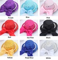 Wholesale 13CM Girl Latin Dance Performance Fabric Hairclip Head Accressories Children Girl MIni Hat Bowler Fascinator Hairpin