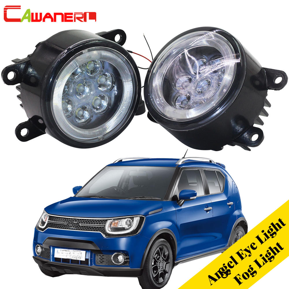 Cawanerl For Suzuki Ignis II Closed Off-Road Vehicle 2003-2008 2 X Car Styling LED Fog Light Angel Eye DRL Daytime Running Light 2pcs for car styling fog lights nissan x trail t31 closed off road vehicle 2007 2014 halogen lamps 26150 8990b