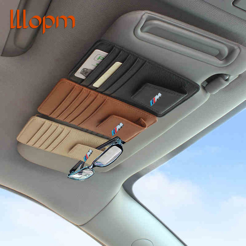 Genuine Leather M Power M Performance Car Glass Clip Sticker For BMW E39 E46 E60 E90 F10 F30 F18 X5 E35 E34 E30 F20 E92 E60 X1 2pcs leather car seat leakproof pad cover leak plug seam cushion for bmw m performance e46 e39 e36 e60 e90 e34 f10 f30 e30 x5