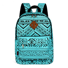 Фотография Junior School Bag for Teenager Girl/ Boy Nylon Women Stylish Book Bags Travel Multifunctional Classic Vintage Printing Bag