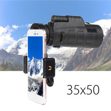 Promo offer 35×50 Zoom Phone Camera Lens Monocular Telescope + Universal Holder Clip Outdoor for Phone