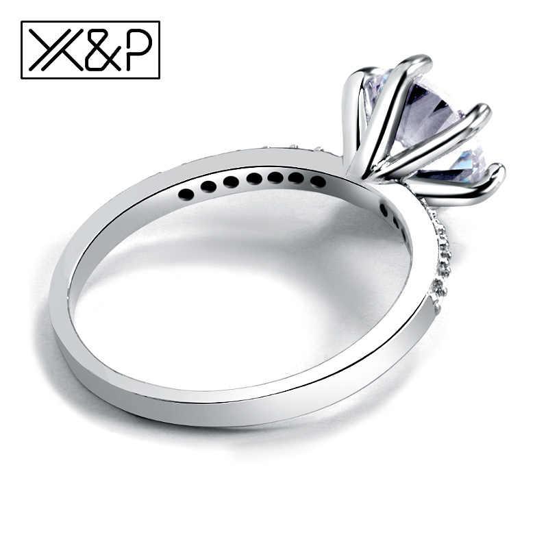 X & P классическое обручальное кольцо 6 когтей дизайн AAA белый кубический циркон Модные женские обручальные кольца 2019 ювелирные изделия