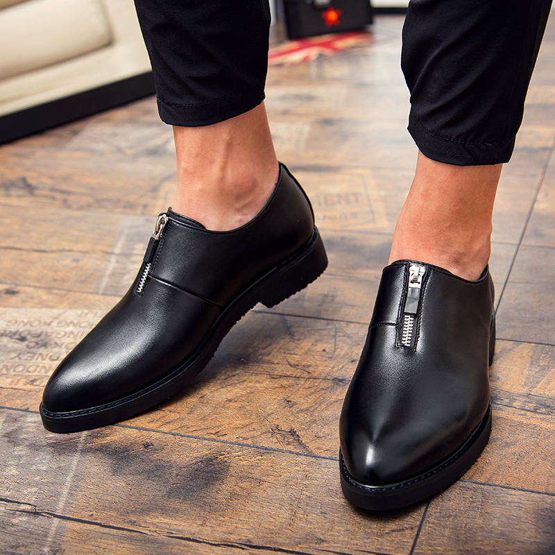 Thestron Men Red Formal Shoes Pointed Dress Shoes Male Luxury Brand Derby Shoes Men Casual Leather Summer Autumn Breathable New
