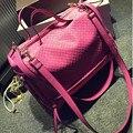 2016 Осень И Зима роскошные сумки женские сумки дизайнер Ретро Weave Вязание Повседневная Сумка На Молнии Большой Емкости Сумка A4