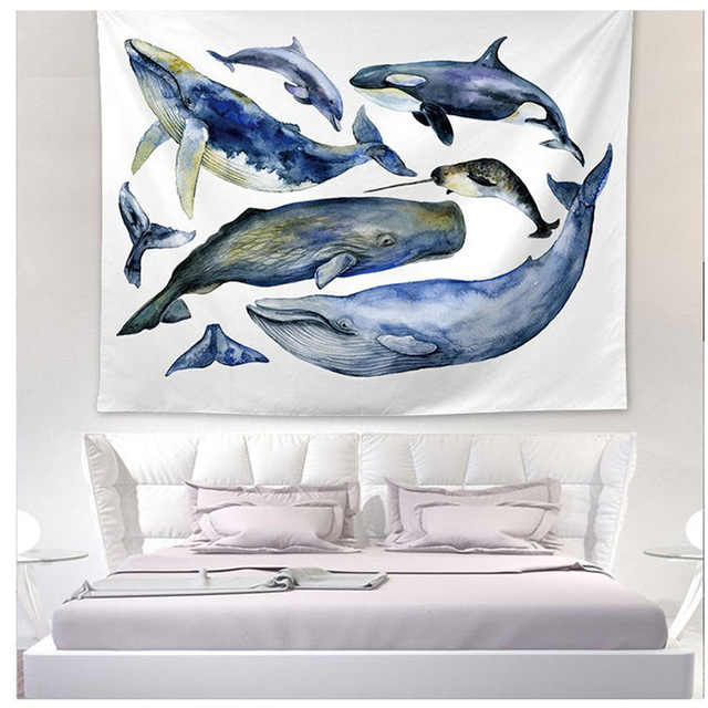 Whale Print Wall Tapestry 3
