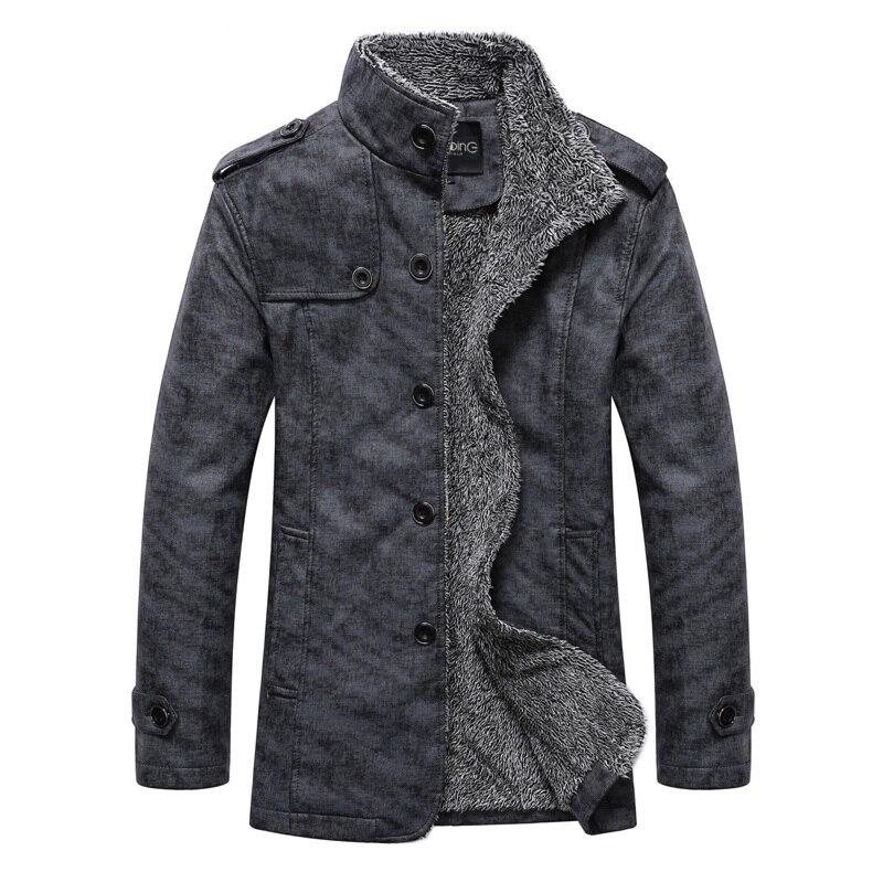 2018 Winter Windproof waterproof Thick Warm Long PU Leather Jacket Men,Fashion Husband Leisure Plus Size Loose Coat Straight men