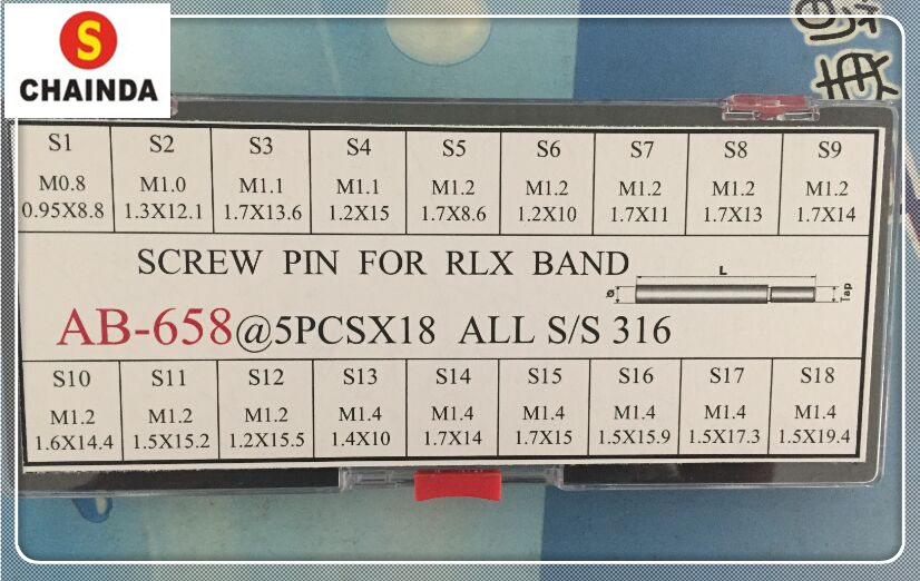 Free Shipping 90 Screw Pins Links for RLX Watch Bands/Bracelets/Straps Assorted Sizes Set free shipping 90