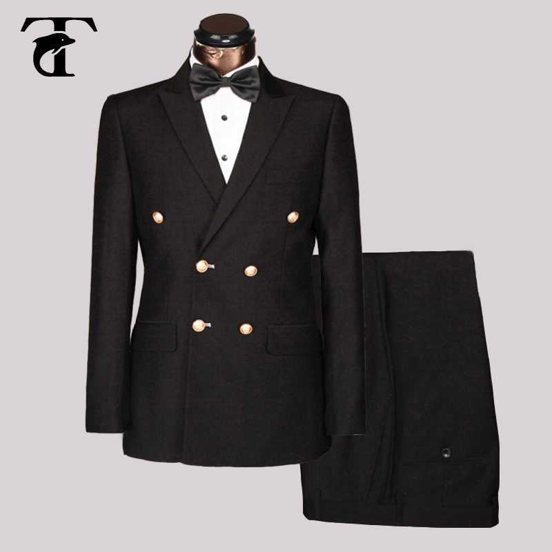 Online Get Cheap Mens Black Double Breasted Suit -Aliexpress.com ...