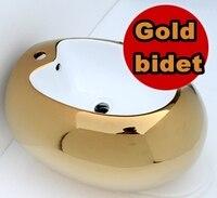 European style Fashion Toilet Ceramic Gold bidet Bathroom Ultra quiet Flush Shattaf wash Device Women's Sanitary Ware