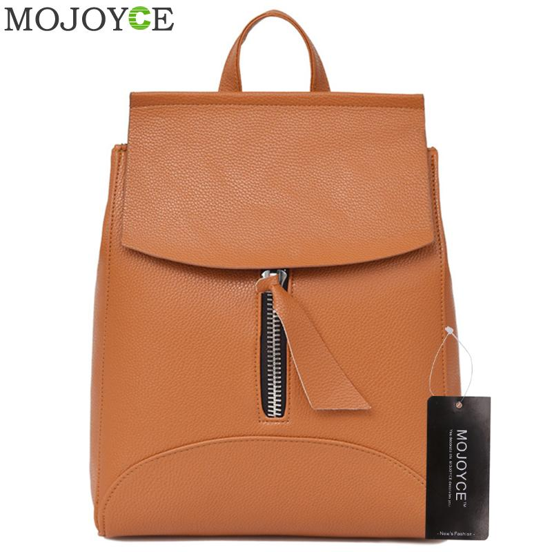 цены  Women PU Leather Backpack Teenage Girls Backpacks Female School Shoulder Bag Ladies Travel Bags Mochila Escolar Book Rucksack
