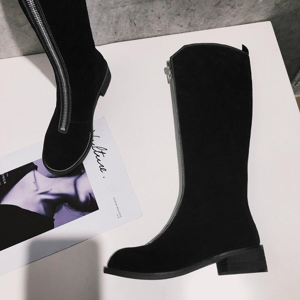 D'hiver Bottes Seak À Chaussures argent gris Zip Femmes Baskets Noir Owen En Noir Formateurs Genou Casual De Véritable Cuir Du Appartements marron Luxe D'équitation Hauteur HwpztdqnCx