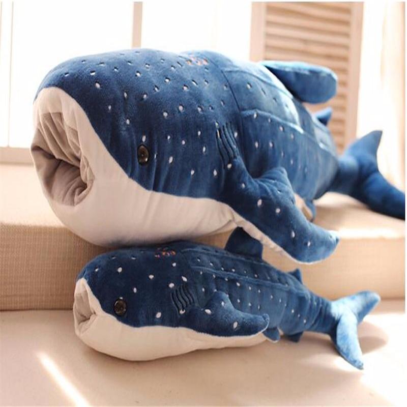 2019 Stuffed Plush Animals Blue Shark Plush Toys Big Fish Cloth Doll Whale Gift