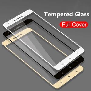 Image 1 - מלא כיסוי מזג זכוכית עבור Xiaomi Redmi 4X 5A Redmi הערה 5 פרו הערה 5A ראש 5 בתוספת הערה 4 4X מסך מגן משוריינת סרט