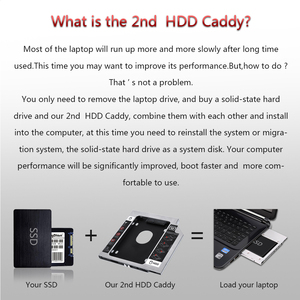 Sunvalley 12,7 мм Алюминиевый металлический материал 2-й HDD Caddy SATA на SATA 2,5