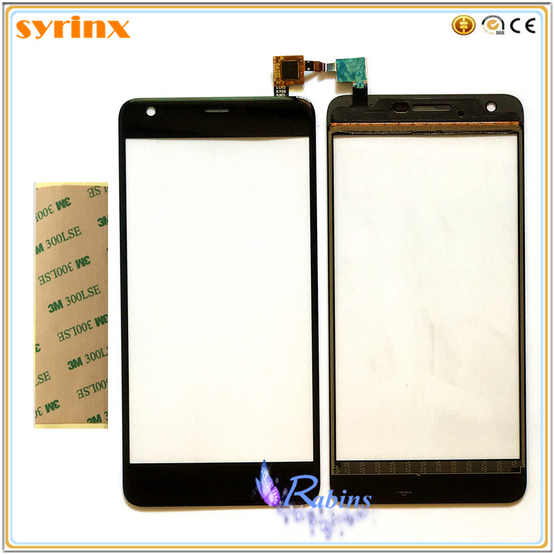SYRINX Touch Screen Digitizer Front Glass Panel Sensor Touchscreen For Highscreen Easy XL XL Pro Phone Touch Panel 3M Stickers