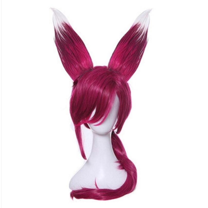 rose anime hair women fox hair halloween cosplay products funny hair fox ear cosplay animal hair