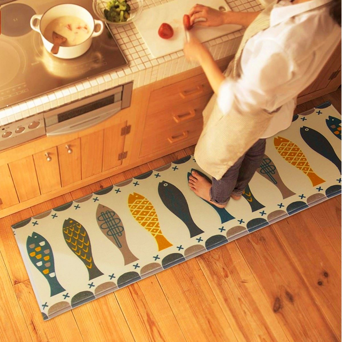 Printed Anti Slip Doormat Floor font b Mat b font Carpet For Living Room Bedroom 45x120cm