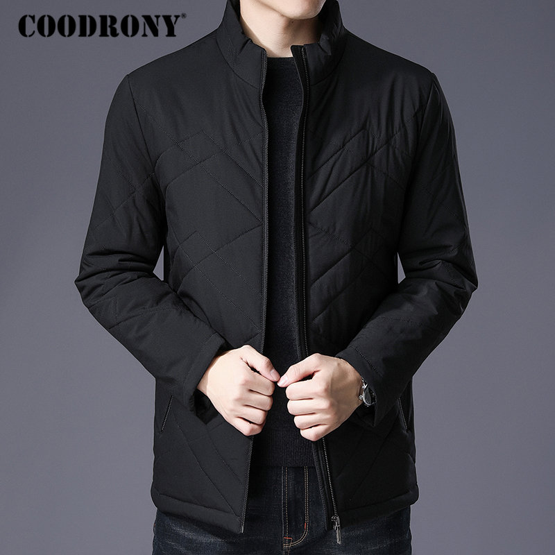 SIMWOOD 90 Grey Duck Down Coats Men 2019 Winter Warm Hooded Parka Fashion Length Jackets Male
