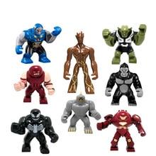 8PCS lot Marvel Super Heros Original Blocks font b Action b font toy font b Figures