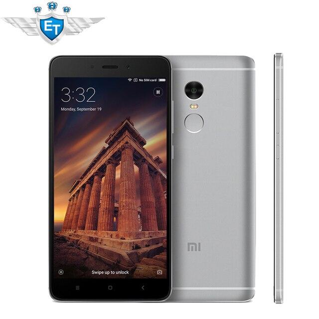 Оригинальный Xiaomi Redmi Note 4 Смартфон МТК helio X20 Дека Core 5.5 inch FHD Экран 3 ГБ Оперативная память 32 ГБ Встроенная память отпечатков пальцев ID Miui 8