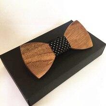 Хэллоуин деревянный галстук-бабочка Галстуки хороший подарок галстук для мужчин corbatas рубашка с фальшивым воротником Свадебный деревянный лук галстук
