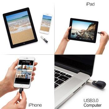 SanDisk USB Flash Drive iXPand U Disk OTG Lightning Connector USB3.0 Stick 16GB 32GB 64GB 128GB MFi For iPhone & iPad SDIX30N