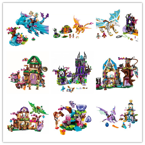 New girls Fairy Elves dragon series fit legoings elves fairy friends figures Building block Bricks Toy girls diy gift kid set 2018 new girl friends fairy elves dragon building blocks kit brick toys compatible legoes kid gift fairy elves girls birthday