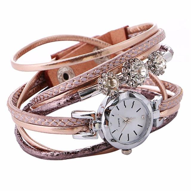 2017 Fashion Womens Top Brand Luxury Diamond Circle Bracelet Watches Leisure Fas