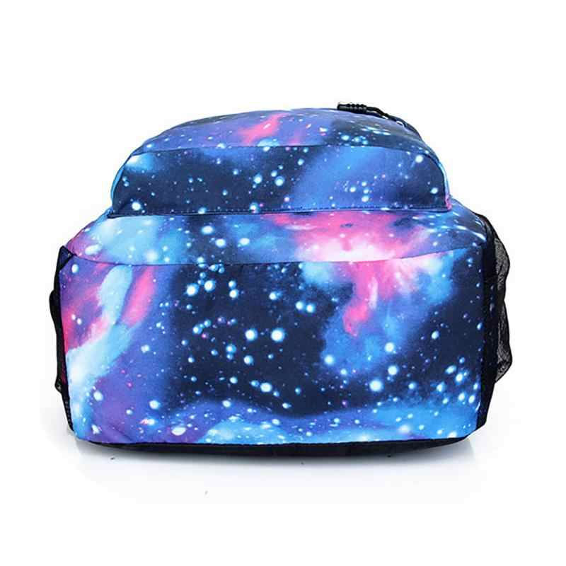 New Unisex Polyester Teenager School Bag men women Book Campus Travel Backpack  Star Sky Printed Backpack 931823452c