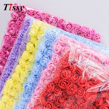 144PCS Artificial Foam Roses Multi Color Fake Flower For Wedding Home Party Decoration & Wedding Car Corsage Decoration