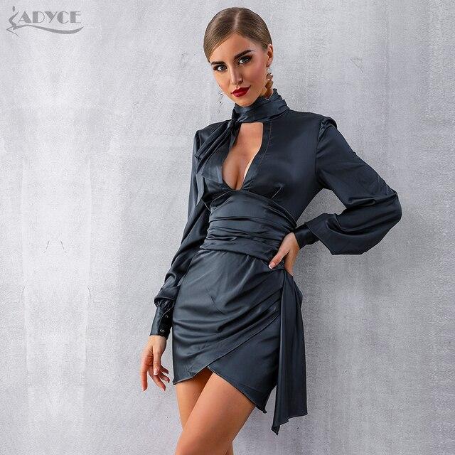 Black Long Puff Sleeve Mini Club Dress  3