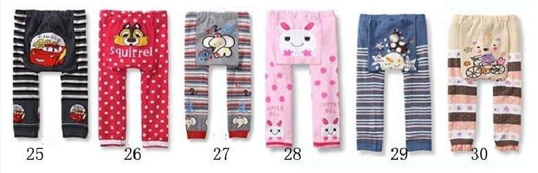 Акция, 18 шт. в партии, популярные детские штаны на подгузник, 36 цветов Штаны для мальчиков и девочек детские леггинсы - Цвет: Group E 25 to 30