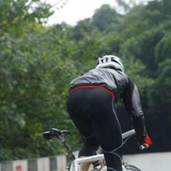 SOBIKE Bicicleta Ciclismo Hombres Lluvia Abrigo A Prueba De Viento Slim Jersey Chaqueta De Manga Larga Reflectante Anti-retráctil Antiarrugas Chaqueta