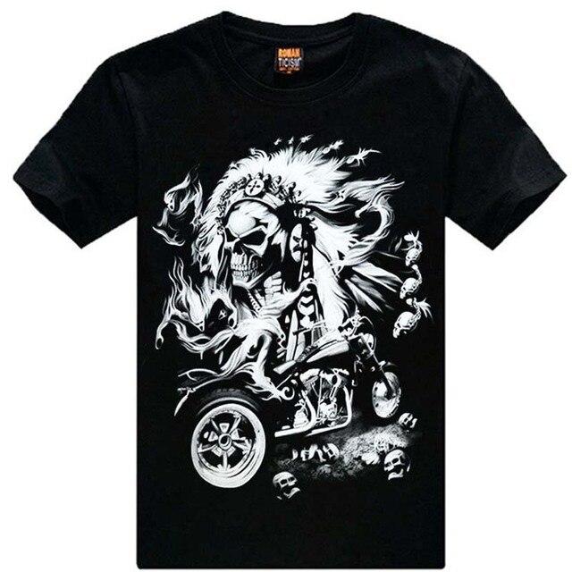 Free shipping M - XXXL New Fashion Cotton T Shirt Brand Men 3d Tshirt thanks Skull Animal Causul T - Shirts Camisetas Masculinas