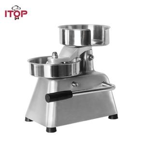 ITOP Patty Maker Hamburger Press Forming Machine 150mm Round Meat Press Food Processors With 500pcs Burger Paper