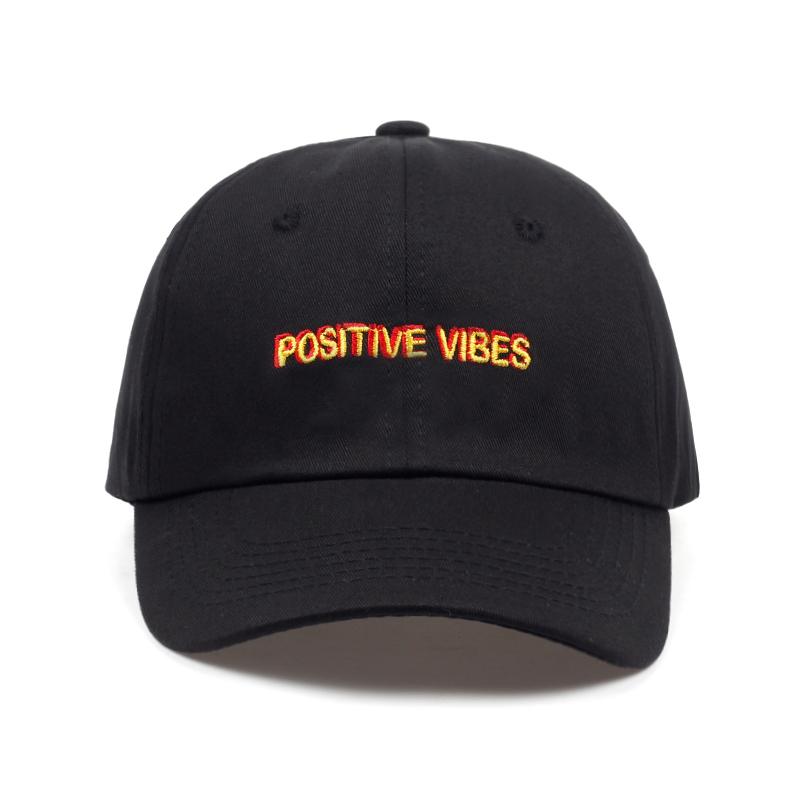 2018 new Positive Vibes Cotton Embroidery Baseball cap men women Summer fashion Dad hat Hip-hop caps wholesale feitong summer baseball cap for men women embroidered mesh hats gorras hombre hats casual hip hop caps dad casquette trucker hat
