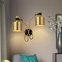 Nordic Modern Adjustable angle Iron Hollowed Gold Black Led Wall Lamp Design Living Room Bedroom Dining Room Kitchen Stair Light free shipping bedroom wall light new modern polished iron adjustable armed lever fashionstudy room hallway gallery wall lamp