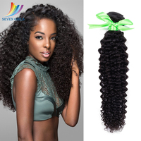 Sevengirls Indian Hair Natural Color Grade 10A Virgin Hair Extension Deep Curly 10 30Inch 1 Bundle For Black Women Free Shipping