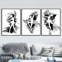 Watercolor Ballet Dancer Black White Nordic Posters And Prints Wall Art Canvas Painting Pictures Girl Room Bedroom Decor