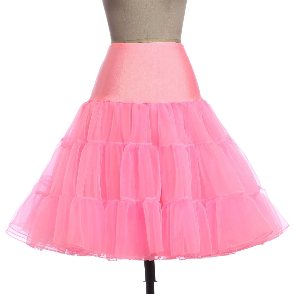 Retro Woman Wedding Bridal Petticoat Crinoline Short Tulle Skirt Underskirt Rockabilly Tutu Wedding Accessories Jupon Mariage
