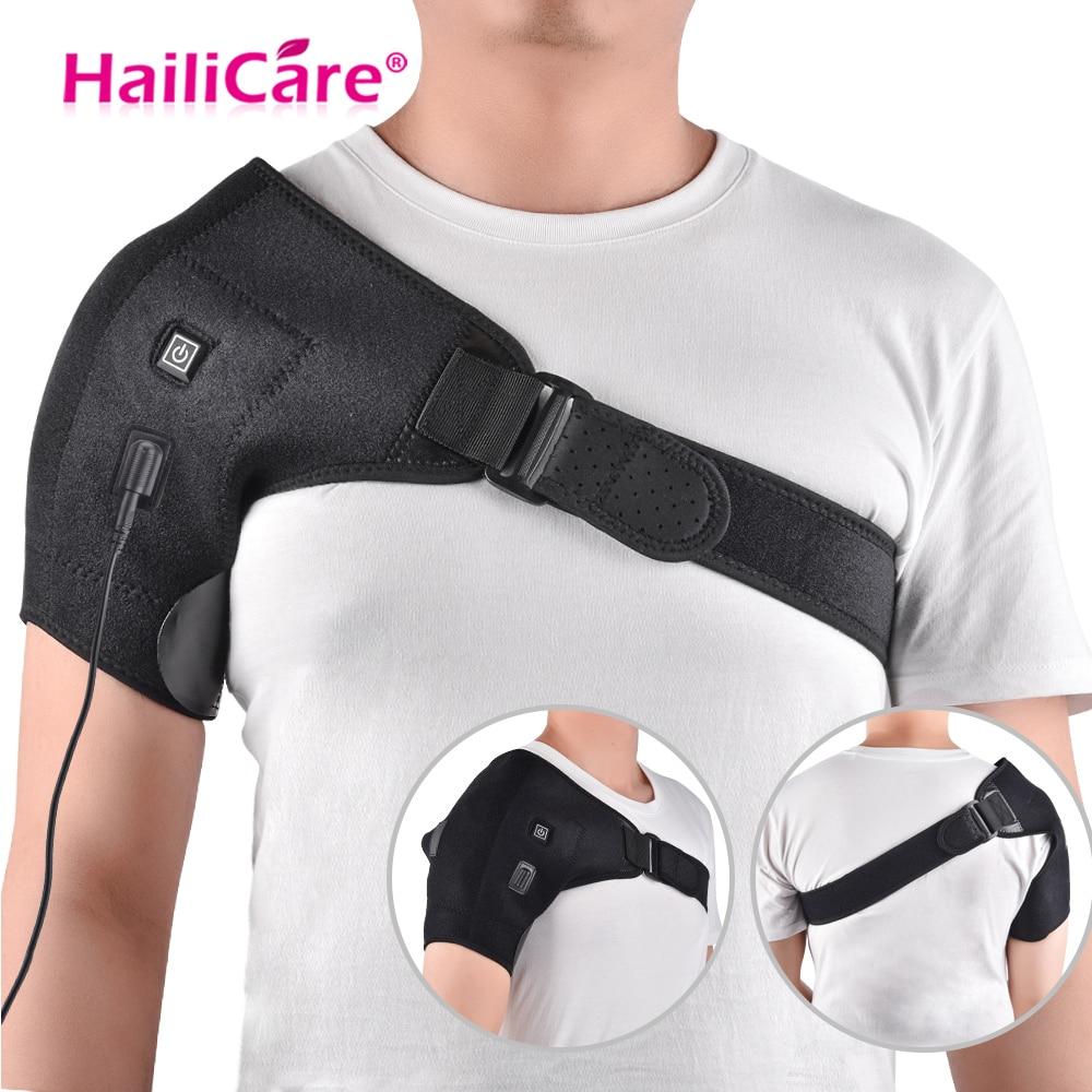 Heat Therapy Shoulder Brace Adjustable Shoulder Heating Pad for Frozen Shoulder Bursitis Tendinitis Strain Hot Cold Support Wrap цена 2017
