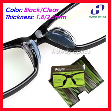 100 pairs Acetate optical frames Eyeglasses Glasses Silcone Black Clear 1.8mm 2.5mm Anti Slip Nose P
