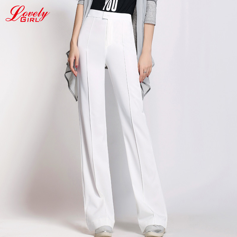 Wonderful 2017 Flare Pants Fashion Women Leather Pants Spring Autumn New Casual